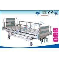 China Aluminium Side Rails Manual Hospital Bed , Manual Hand Crank Bed PP/ABS on sale