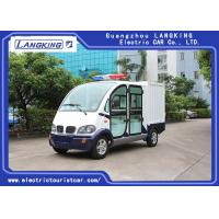 Best 4 Seats Electric Luggage Cart / 48V 4kW DC Motor Driven Battery Powered Carry Van wholesale