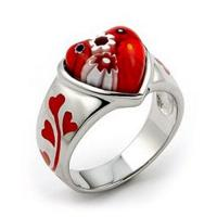 Best bridesmaid Gift murano glass diamond ruby garnet indian / alexandrite jewelry ring wholesale