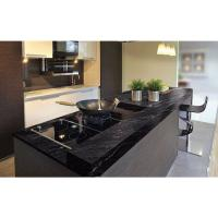 China Granite Countertops In Kitchen , Agatha Black Granite Countertop Polish Finished on sale