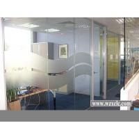 Best Sheets Of toughened Glazed Double Glass Modular Office Partitions Use Curved Panels wholesale