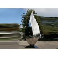 Best Park Art Decoration Polished Metal Leaf Sculpture Stainless Steel Corrosion Stability wholesale