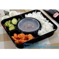 Best stackable airtight food tray 5 compartments,Professional design plastic sea food container,6 Compartment Food Tray pack wholesale