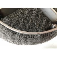 China Air Purification Wire Mesh Demister Pad Knitted / Plain Weave Round Hole on sale