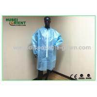 China Blue Water Resistance Disposable Hospital Scrubs Long Sleeve Comfortable on sale