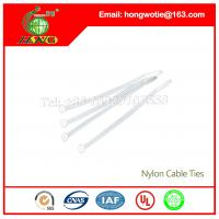 China 100 Pcs 7.6mmx300mm Plastic Power Cable Wire Cord Zip Ties Straps for Computer Cord Beige on sale