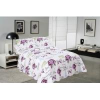 Cheap Rose / Butterfly Cotton House Quilt Covers With Colorful Printed Pattern Styles for sale