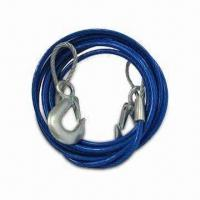 "Best Heavy-duty 12' Emergency Tow Cable with Safety Hooks - 3/8"" Wound-steel Wire Cable for Strength wholesale"