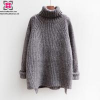 China Wholesale Custom Women Knitted Long Sleeve Turtle Neck Warm Sweater for Winter on sale