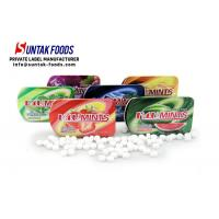 Best 15g Sweet Confectionery Slide Tin Box Candy / Xylitol Mints For Fresh Breath wholesale
