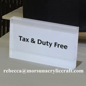 Best Laser cut acrylic block silk screen printing acrylic sign block wholesale