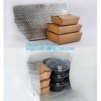 Best Reusable Aluminium Foil Lunch Food Delivery Non Woven Insulated Thermal Cooler Bag,hot food delivery Use Aluminum Foil i wholesale