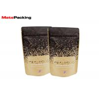 China Flat Bottom Kraft Paper Food Bags Resealable Stand Up Aluminum Foil Lined Coated on sale