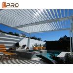 Best Sun Shade Opening Roof Modern Aluminum Pergola Outdoor Rainproof Roof Louver wholesale