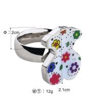 Best Flower Design Stainless Steel Ladies Rings With Shell Jewelry OEM / ODM Available wholesale