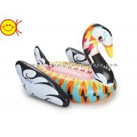 Best No Odor Inflatable Water Floats , Inflatable Swan Float For Party wholesale
