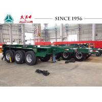 Best Heavy Duty 20 FT 3 Axle Skeletal Container Trailer With High Transport Efficiency wholesale