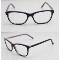 Best Purple & Black Vintage Oval Women Acetate Glasses Frames With Lightweight wholesale