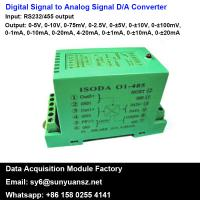 Best RS232/485 to 4-20mA/0-10V A/D Converters With Modbus wholesale