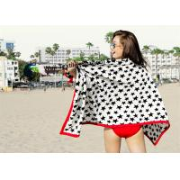 China Five-pointed Star Patterned Microfiber Beach Towels Customized Machine Washing on sale