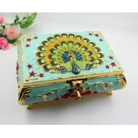 Best Shinny Gifts Small Ring Jewelry Box Glass Cover Ring Storage Box Stud Earring Box wholesale