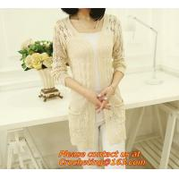 Best Spring/Fall Hot Selling Fashion Women's Clothing Brand See Through White Short Sleeve Crochet Net Lace Cardigan wholesale