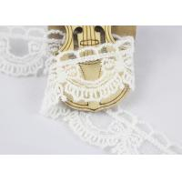 China Guipure Cotton Lace Ribbon Water Soluble Antique Style White Color 2.6cm Width on sale
