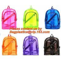 Best Backpack Bag Casual Backpack For Women, outdoor clear pvc plastic backpack, school travel backpack with padded shoulder wholesale