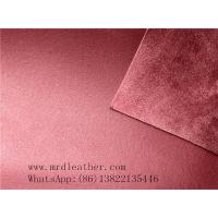 China Good quality genuine leather handfeeling  PVC suede backing for shoes and bags making on sale