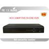 Cloud AHD CCTV DVR 4 CH Security DVR Recorders 1080P Full HD
