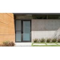 Cheap Patio Single Panel Aluminium Casement Hinged Glass Door Customized Profile Color for sale