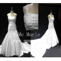 Best Long tail one-should mermaid backless applique lace wedding dresses BYB-14589 wholesale