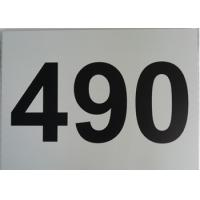 China Single Sided Aluminum Metal Signs Outdoor Custom Size Black On White Straight Corner on sale