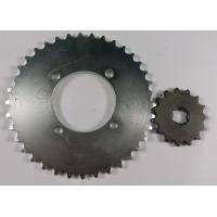 China Strong Steel Front & Rear Motorcycle Chain Sprocket Set 5.8-7.2mm Thickness on sale