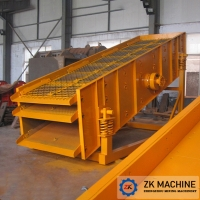 China High Efficiency Linear Vibrating Screen Machine 150-1200 T/H For Ore Dressing on sale
