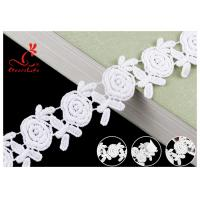 Buy cheap Embroidered Flower Guipure Cotton Lace Trim For Fashion Apparel With 100 Inspect from wholesalers