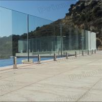 China Balcony Frameless Glass Railing Design With Tinted Tempered glass on sale
