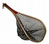 China Black portable outside knotless wooden handle Fishing Landing Nets for fishing on sale