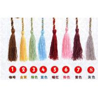 Best 9cm polyester tassel with cord for curtain garments polyester Handmade decoration tassel, wholesale