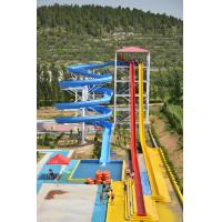 Best 6mm - 8mm Fiberglass Adult Water Slides Open Body For Holiday Resort wholesale
