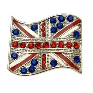 China Unique Handmade matt finished alloy UK Flag Shamballa olympic finger rings for Anniversary on sale