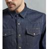 Buy cheap High quality casual man blue jean shirts men collar stylish jean shirt fashion from wholesalers