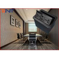 Best Office Conference Desktop Power Sockets Aluminum Alloy Brushed With Network wholesale
