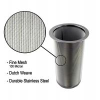 Best 18/8 Stainless Steel Cold Brew Coffee Maker Filter Cylinder 8.3cm Top Dia wholesale