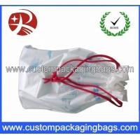 China Multi - Use White Small Drawstring Pouch Custom Print For Grocery on sale