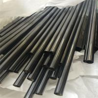 China Black Titanium Stainless Steel Tubing 2mm / 4mm Thickness Rectangular Durable on sale