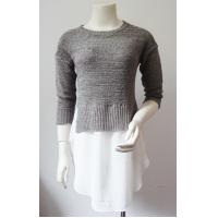 Best OEM Middle Sleeve Half Circle Ladies Pullover Sweaters For Summer wholesale