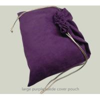 Best large purple velvet suede drawstring shoes dust bag shoes organizer bag wholesale
