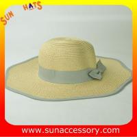 Best AK16842 Wide brim sunny beach paper straw hats in stock , promotion cheap hats . wholesale