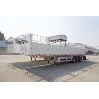 China Multi Function Semi Flatbed Trailers , Side Wall Fence Semi Cargo Trailer on sale
